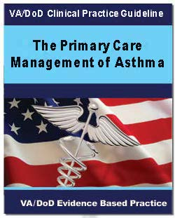 Image of the cover of the VA/DoD Clinical Practice Guideline Management of Asthma in Children and Adults