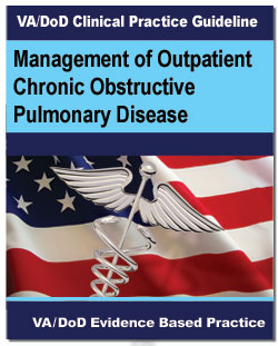 Image of the cover of the VA/DoD Clinical Practice Guideline Management of Outpatient Chronic Obstructive Pulmonary Disease