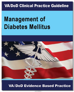 Image of the cover of the VA/DoD Clinical Practice Guideline Management of Diabetes Mellitus