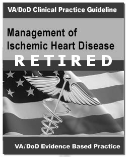 Image of the cover of the VA/DoD Clinical Practice Guideline Management of Ischemic Heart Disease, now retired
