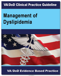 Image of the cover of the VA/DoD Clinical Practice Guideline Management of Dyslipidemia