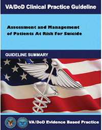 Image of the cover of the VA/DoD Clinical Practice Guideline Assessment and Management of Patients at Risk for Suicide