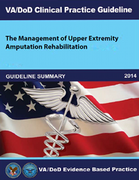 Image of the cover of the VA/DoD Clinical Practice Guideline The Management of Upper Extremity Amputation Guideline